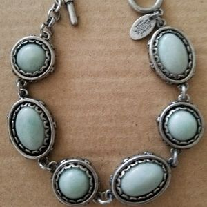 Nine West Jewelry - 7.25 inch silver and blue stone bracelet